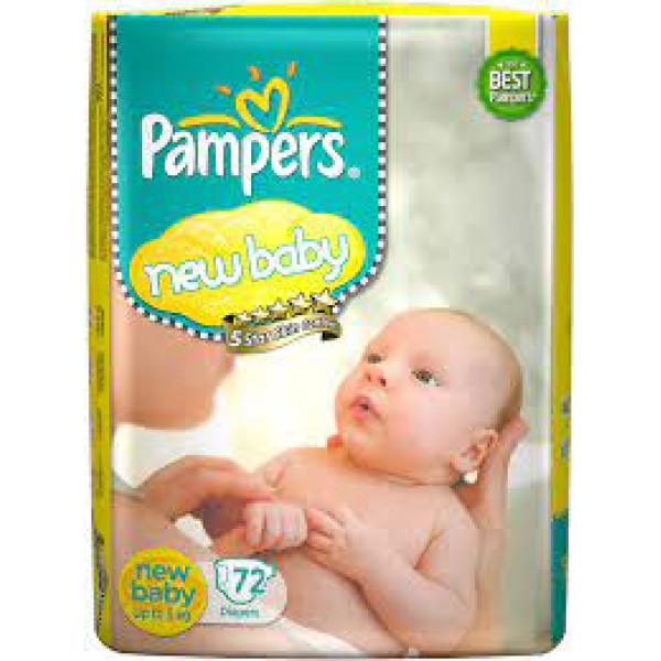 PAMPERS NEW BABY 72 DIAPERS