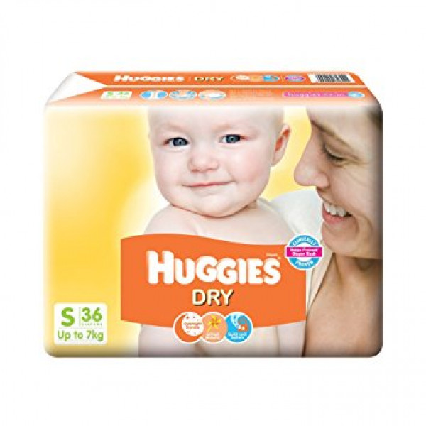 HUGGIES NEW DRY SMALL 36